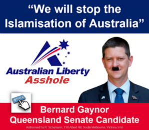 Anti Islam, Anti Homosexual, Bernie GayNor